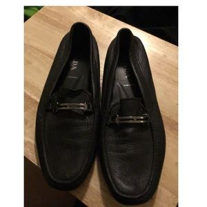 Prada Black Leather Loafers Men